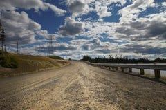 Route de désert de Canada dans la pente Image libre de droits