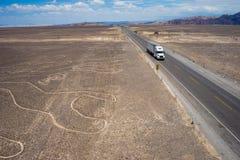 Route de désert de Nazca Photo libre de droits