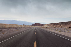 Route de Death Valley Images libres de droits