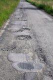 Route de dommages Image libre de droits
