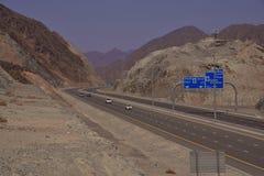 Route de Dubaï Foudjairah photographie stock libre de droits