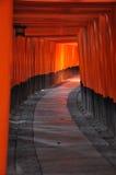 Route de Fushimi Inari Torii Images libres de droits