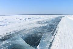Route de glace Image stock
