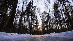 Route de glace dans le coucher du soleil Image libre de droits