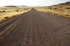 Route de gravier Images libres de droits