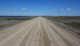 Route de gravier au Normand de cap Photo libre de droits