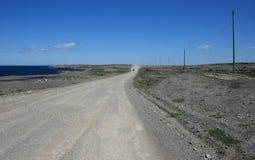Route de gravier près de Normand de cap Photo stock