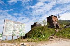 Route de Haiyun outre de Danang au Vietnam Images libres de droits