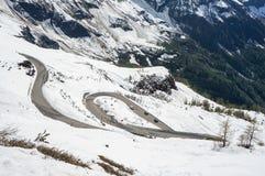 Route de haute montagne Images stock