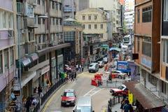 Route de Hollywood, Hong Kong Island Photos stock
