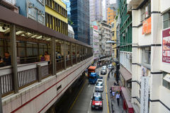Route de Hollywood, Hong Kong Island Photographie stock