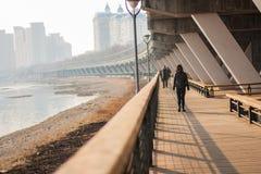 Route de Jilin le fleuve Songhua Photo libre de droits