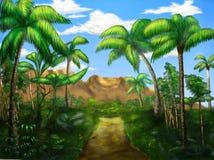 Route de jungle illustration de vecteur