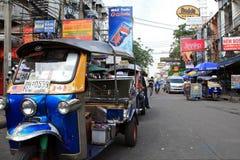 Route de Khao San, Bangkok, Thaïlande Images libres de droits
