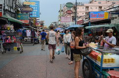 Route de Khao San, Bangkok, Thaïlande Images stock