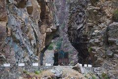 Route de korakaram de croisement de camion Images stock