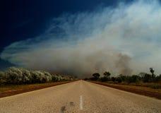 Route de l'Australie, incendie de buisson Photographie stock