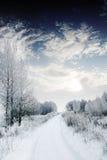 Route de l'hiver. Photos stock