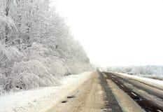 Route de l'hiver. images libres de droits