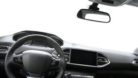 Route de l'intérieur de la voiture Photo stock