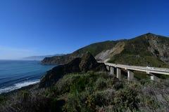 Route de la Californie 1 printemps image stock