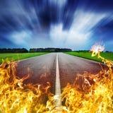 Route de la chaleur Images libres de droits