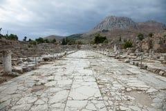 Route de Lechaion Images stock