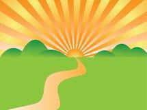 Route de lever de soleil Photos libres de droits