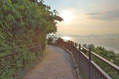 Route de Lugard chez Victoria Peak en Hong Kong Photographie stock