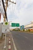 Route de Mahidol, Chiangmai. Photographie stock libre de droits
