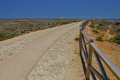 Route de marche vers la mer Images libres de droits