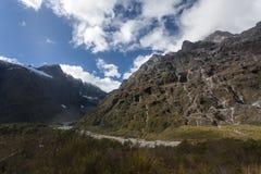 Route de Milford Sound Images libres de droits