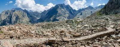 Route de militaires de montagne Image stock