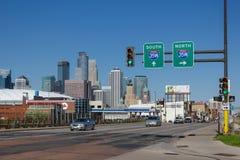 Route de Minneapolis près du centre Photo stock