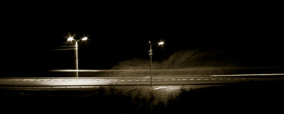Route de minuit Photo stock