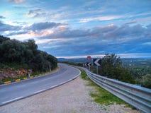 Route de montagne. Images libres de droits