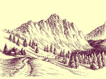 Route de montagne illustration stock