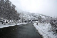 Route de montagne avec le regain Photographie stock libre de droits