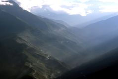 Route de montagne, Coroico Photos stock