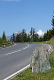 Route de montagne d'enroulement Image libre de droits