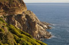 Route de montagne d'entraînement de crête de Chapmans à Cape Town Afrique du Sud Images stock