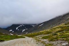 Route de montagne dans Hibiny images stock