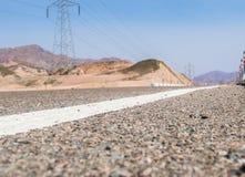 Route de montagne dans le désert de Sinai Photos stock