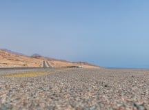 Route de montagne dans le désert de Sinai Images libres de droits