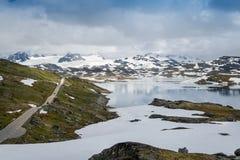 Route 55 de montagne dans Sognefjellet, Norvège Photographie stock libre de droits