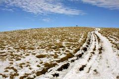 Route de montagne de l'hiver Image stock