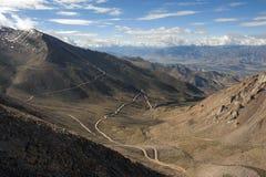 Route de montagne de Leh Images libres de droits