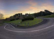 Route de montagne de Mutriku Image libre de droits