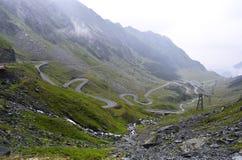 Route de montagne de Transfagarasan, Roumain Carpathiens Photo libre de droits
