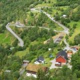 Route de montagne de zigzaguer Photos libres de droits